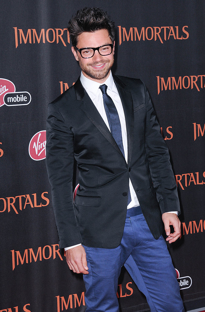 Dominic Cooper attended the LA premiere of Immortals.