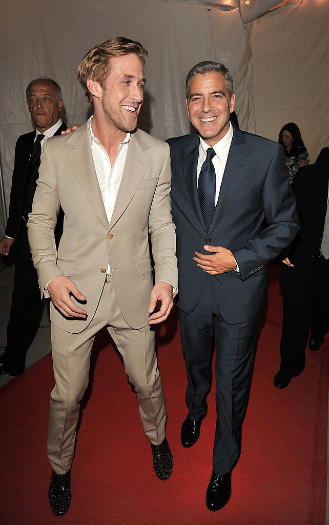 Ryan and his The Ides of March costar George Clooney were looking sharp at the film's Toronto premiere in 2011.