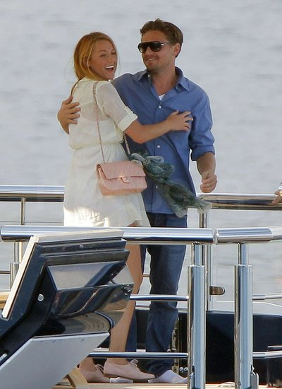 Leonardo DiCaprio and Blake Lively got cozy on Steven Spielberg's yacht in Cannes in May 2011.