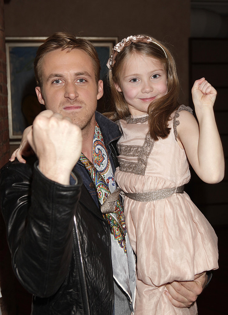 Ryan played it tough with his adorable Blue Valentine costar, Faith Wladyka, at a screening for the film in 2010.