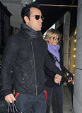 Jennifer Aniston and Justin Theroux out to dinner in NYC.
