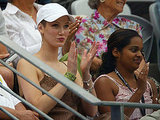Delta was cheering in the tennis stands at the 2004 Adidas International.