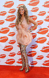 Delta wore a pair of interesting boots at the 2009 Australian Nickelodeon Kids' Choice Awards in Nov. 2009.