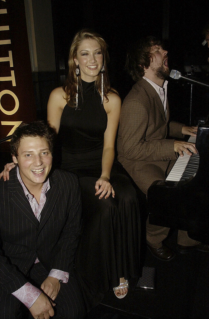 Delta got up to some fun with Merrick Watts and Tim Ross at the 2003 GQ Men of the Year Awards in Sydney.