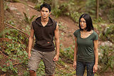 Booboo Stewart and Julia Jones in Breaking Dawn.