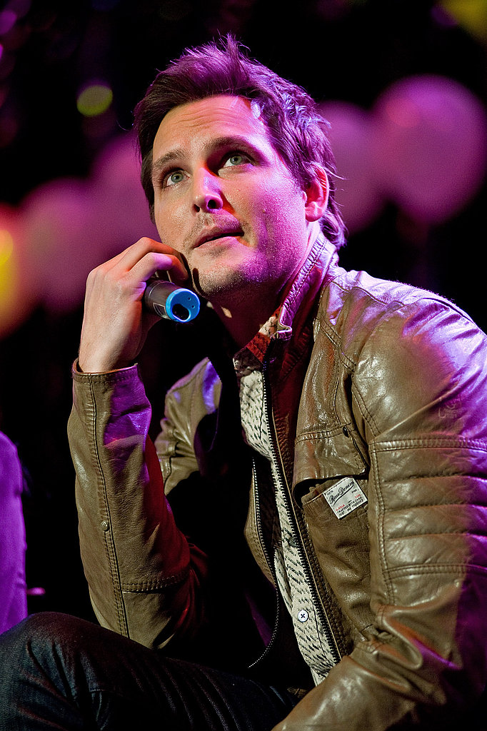 Peter Facinelli in a leather jacket.