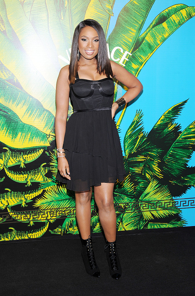 Jennifer Hudson in a little black dress.