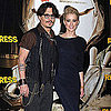 Johnny Depp and Amber Heard at Paris The Rum Diary Premiere