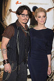 Johnny Depp and Amber Heard in Paris.