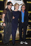 Johnny Depp, Amber Heard, and Bruce Robinson premiered their movie The Rum Diary in Paris.