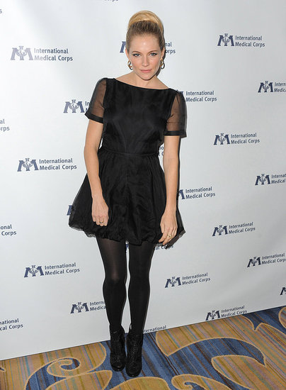 Sienna Miller at the International Medical Corps Awards Celebration.