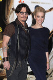 Johnny Depp and Amber Heard continued their Parisian promotion of The Rum Diary.
