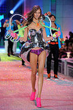 Karlie Kloss was radiant in neon at the 2011 Victoria's Secret Fashion Show.