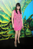 Selma Blair popped in a bright pink dress.