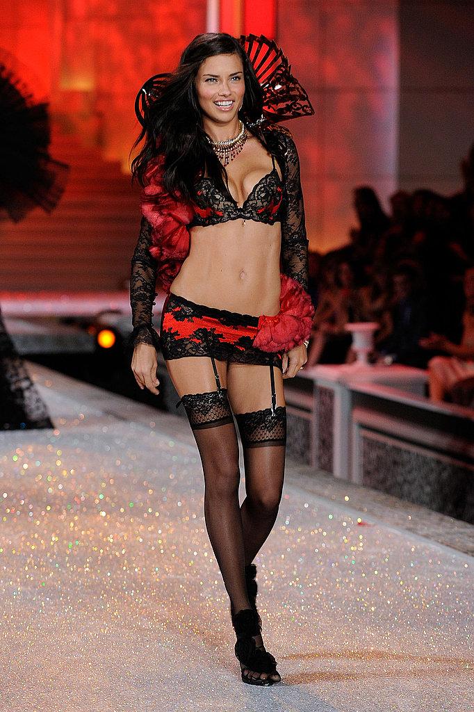 Adriana Lima got sexy for the 2011 Victoria's Secret Fashion Show.