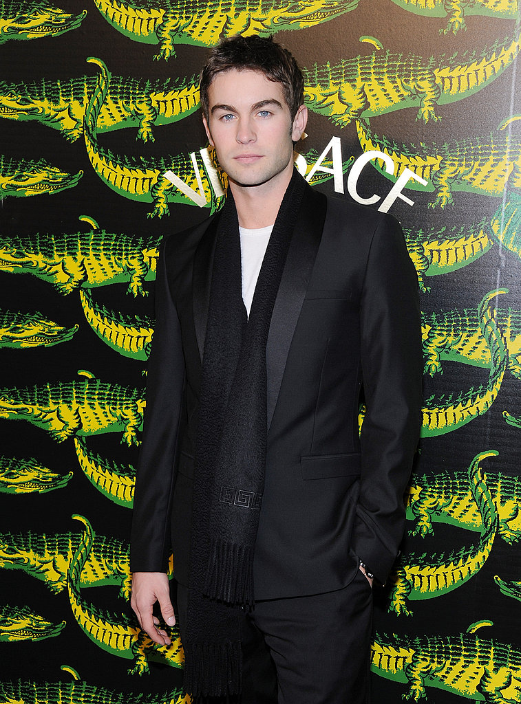 Chace Crawford on the black carpet.