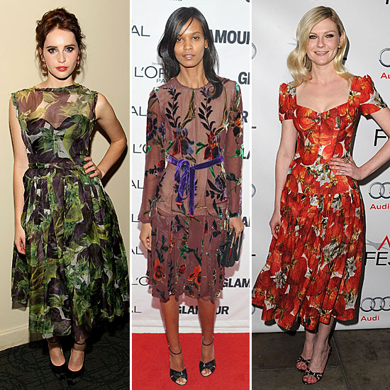 Celebrity Lookbook: Ladylike Printed Frocks