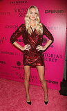 Lindsay Ellingson rocked a red sequin dress at the Victoria's Secret Fashion Show afterparty.
