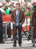 Robert Pattinson walked around the set of The Today Show.
