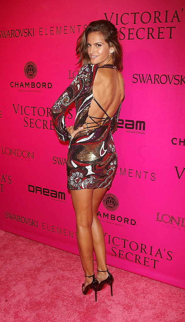 Izabel Goulart flaunted her backless dress.