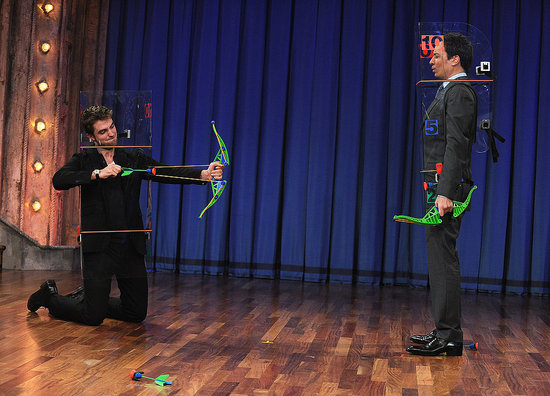 Robert Pattinson Gets in a Bow-and-Arrow Battle With Jimmy Fallon