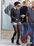 Nicole Richie dropping Harlow off at ballet.
