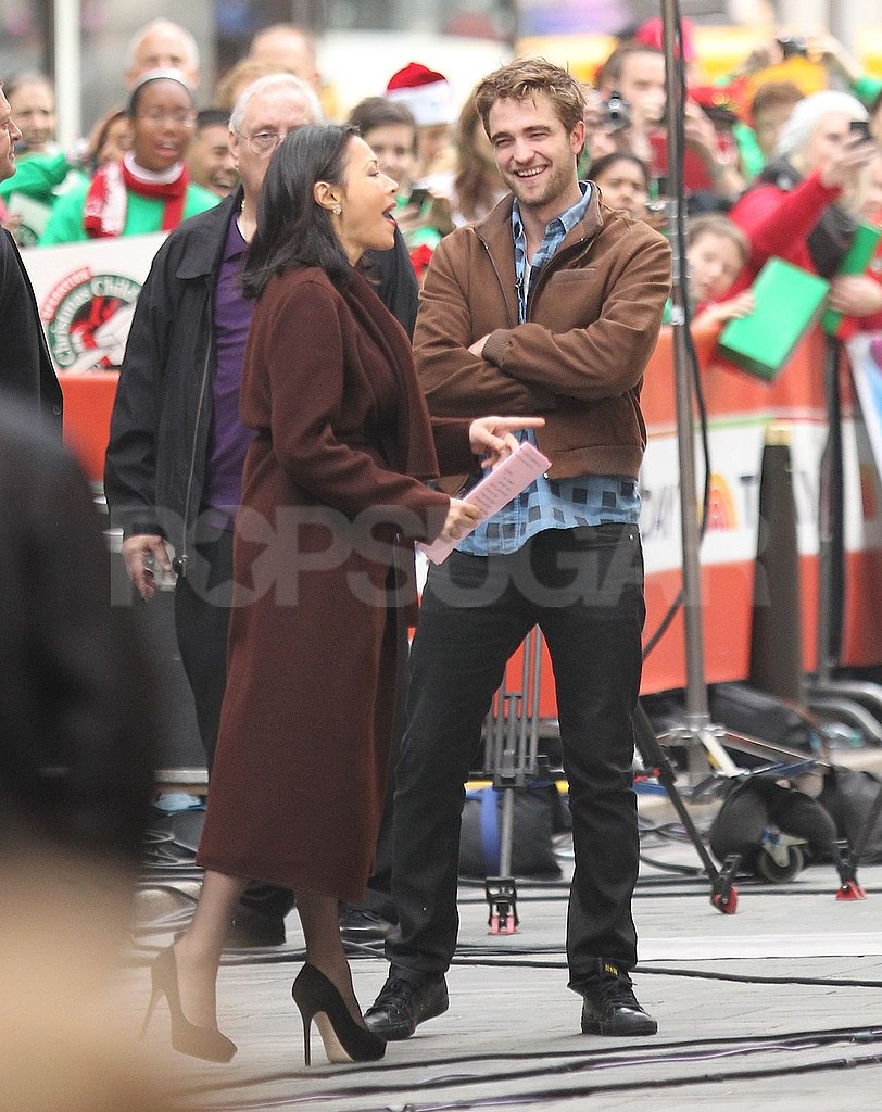 Ann Curry made Robert Pattinson laugh out loud.