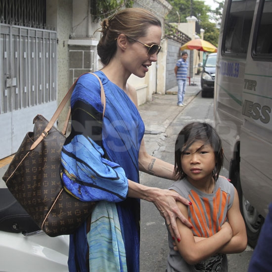 Angelina Jolie and Pax Jolie-Pitt country hopped to Vietnam.