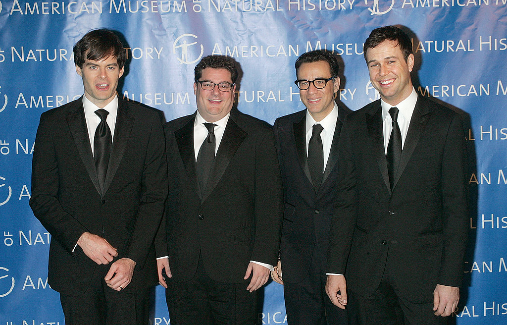 Bill Hader, Bobby Moynihan, Fred Armisen, and Taran Killam hung out at the Museum of Natural History gala.