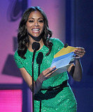 Zoe Saldana was a pretty presenter at the Latin Grammys.