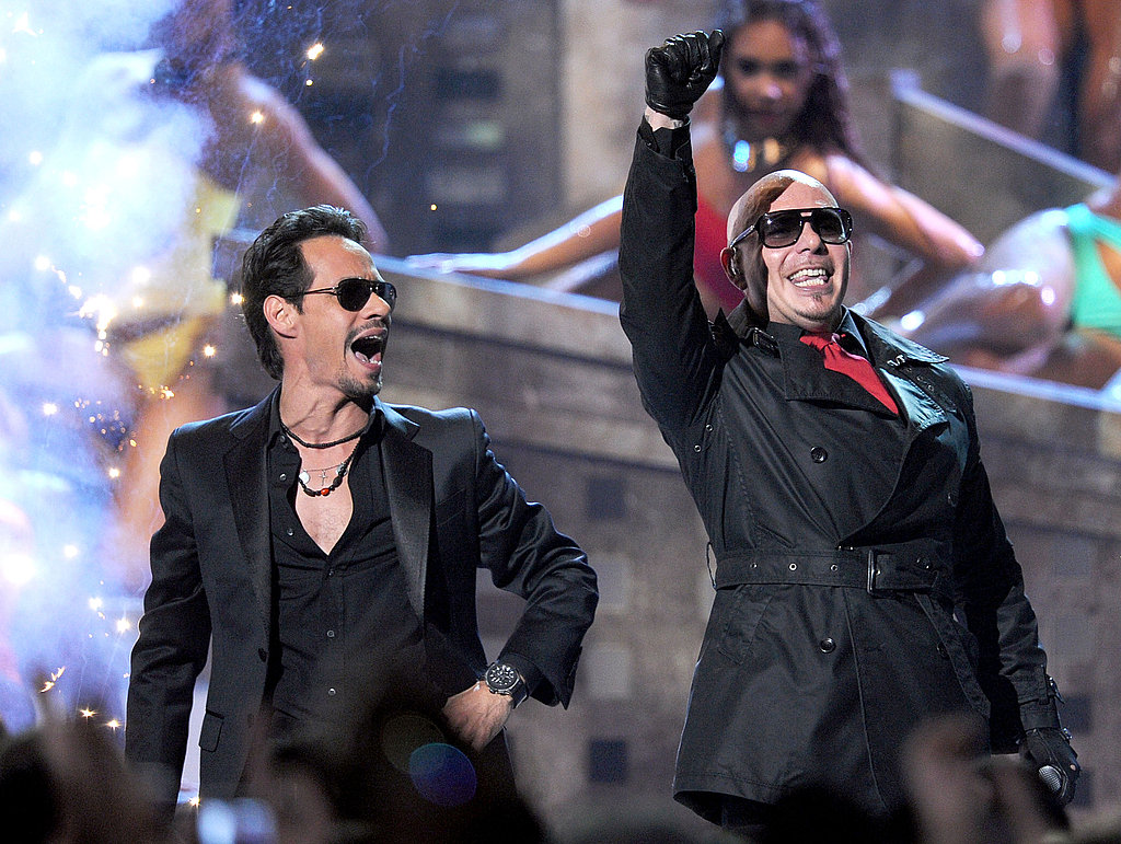 Marc Anthony and Pitbull at the 2011 Latin Grammys.