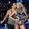 Adam Levine &amp; Anne V at Victoria&#039;s Secret Show