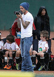 David Beckham took photos of his sons.