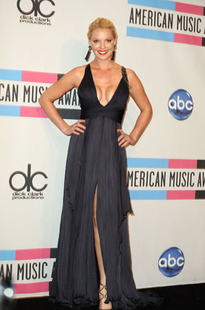 Katherine Heigl was one of the evening's presenters.