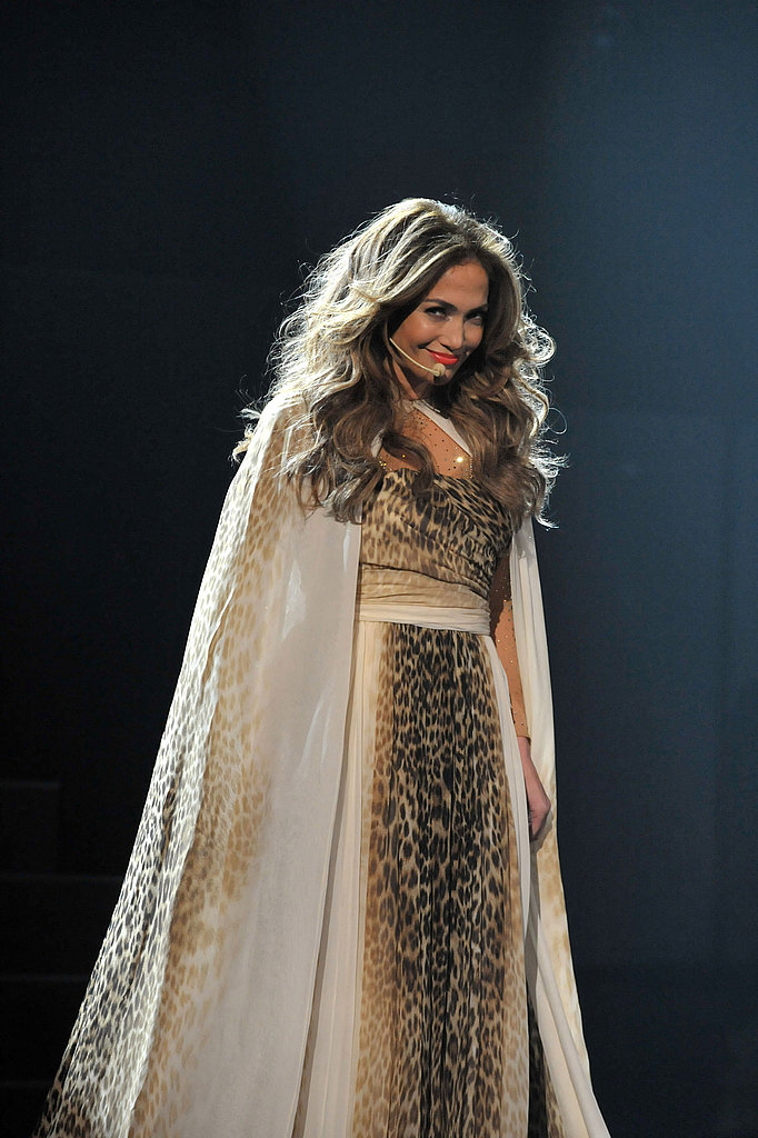 Jennifer Lopez was coy on stage.