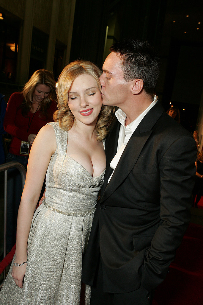 Scarlett Johansson shared a sweet moment with Jonathan Rhys Meyers at the premiere of Match Point in 2005.