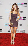 Audrina Patridge wore a mini dress to the 2011 American Music Awards.