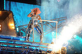 Nicki Minaj had explosions on stage.
