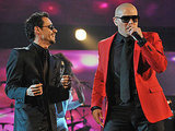 Marc Anthony hit the stage with Pitbull.