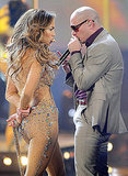 Jennifer Lopez danced with a cane.