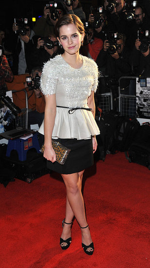 Emma Watson wore Jason Wu in London.