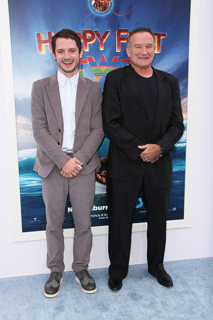 Elijah Wood and Robin Williams at the Happy Feet Two premiere in LA.