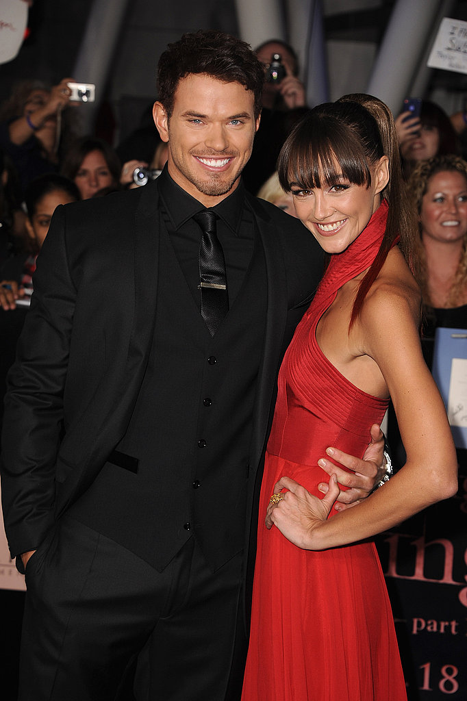 Kellan Lutz brought his new girlfriend Sharni Vinson to the premiere.