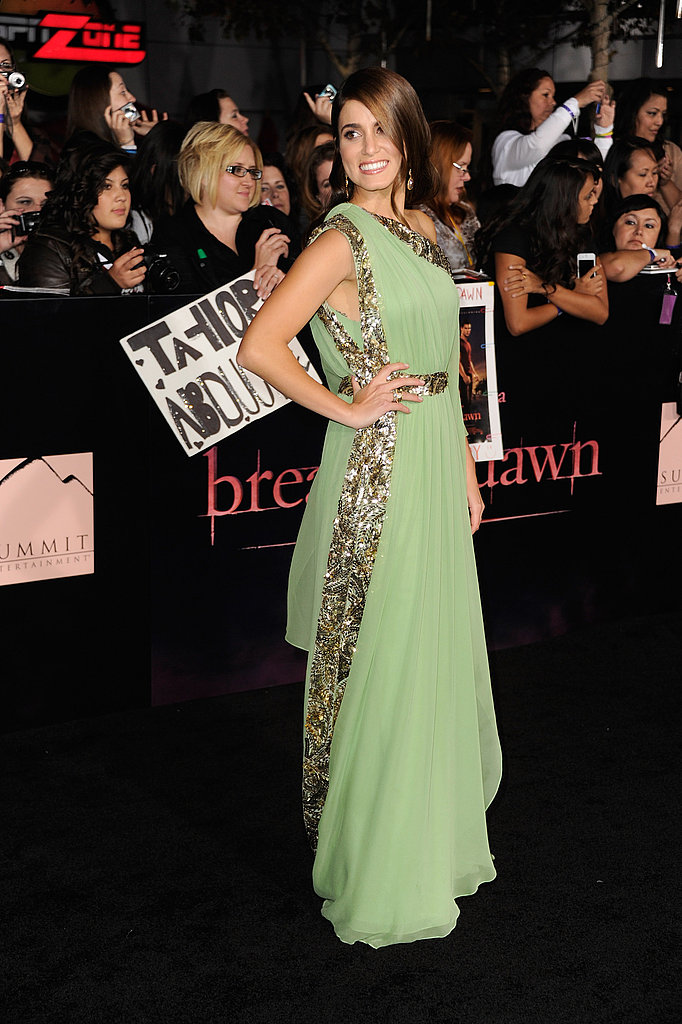 Nikki Reed wore Marchesa.