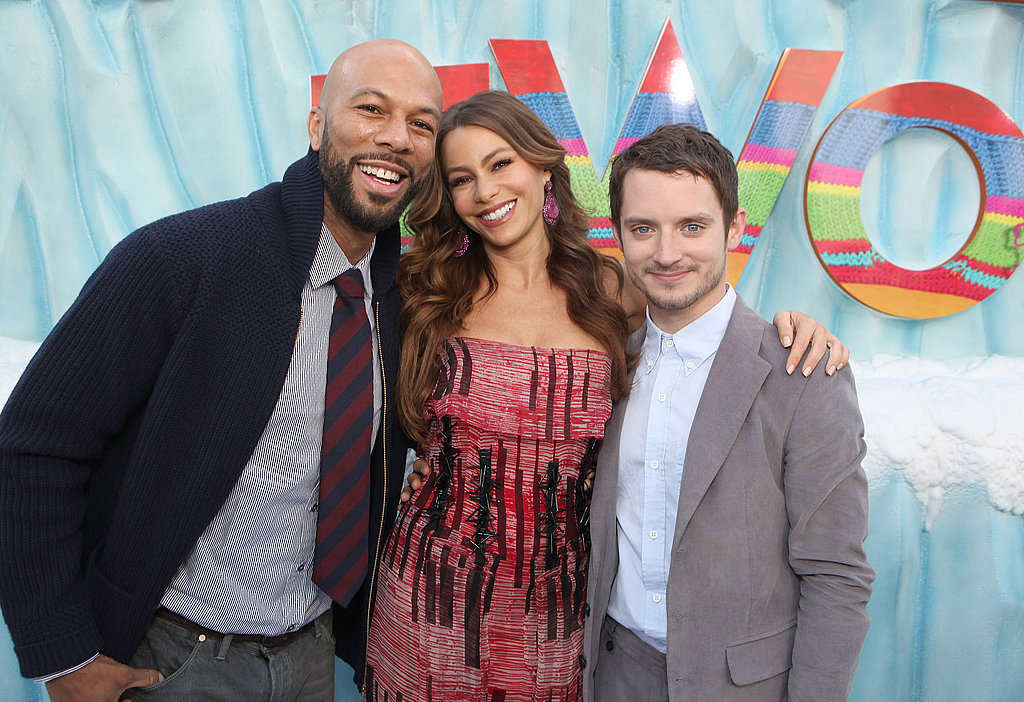 Common, Elijah Wood, and Sofia Vergara stepped out for Happy Feet Two.