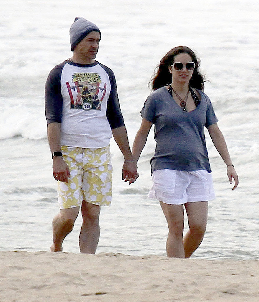 Robert Downey Jr. with his wife, Susan, in Kauai.