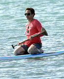 Robert Downey Jr. paddle boarding in Kauai.