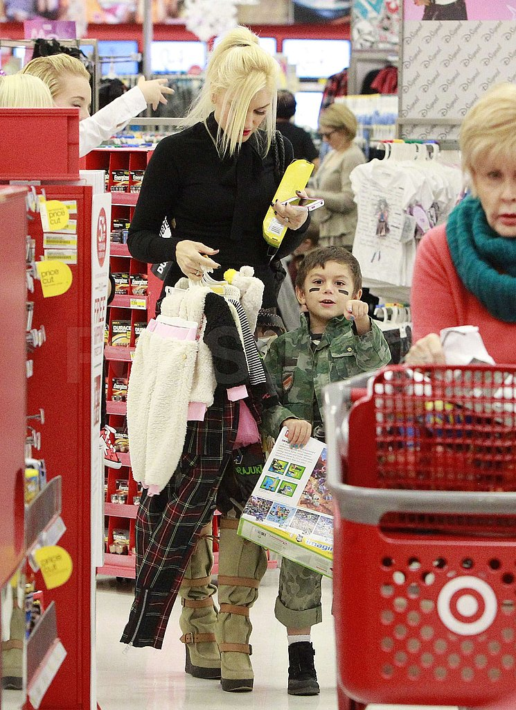 Gwen Stefani and Kingston Rossdale made a Target run.