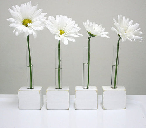 Bud Vases set of four small for table setting by LynettesArt