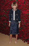 Anna Wintour made an appearance at MoMA's tribute to Pedro Almodovar.